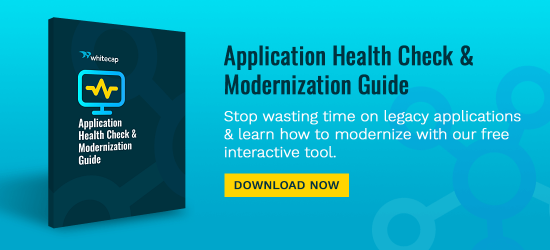 Stop wasting time on legacy applications and learn how to modernize with our free Application Health Check and Modernization Guide. Download Now.